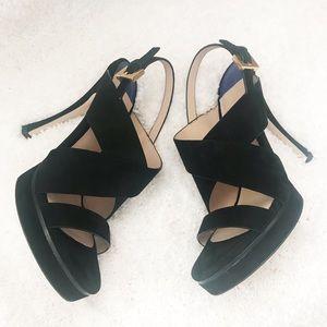 4240a4e84ba Stuart Weitzman Shoes - Stuart Weitzman Hester Black Suede Platforms